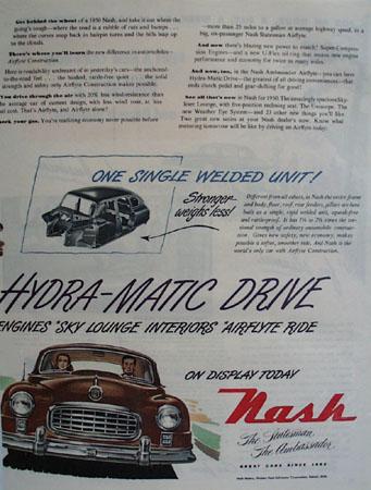 Nash Car 1949 AD