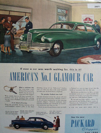 Packard Clipper Car 1946 Ad
