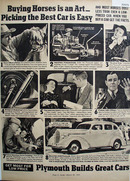 Plymouth Car 1938 Ad