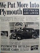 Plymouth Roadking Car 1939 Ad