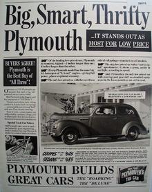 Plymouth Car 1939 Ad