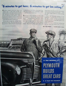 Plymouth builds Great Cars 1945 Ad