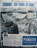 Plymouth Car 1945 Ad