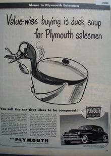Plymouth Car 1949 Ad
