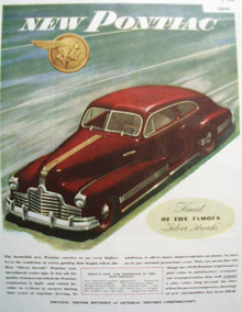 Pontiac Motor Division of G M 1945 Ad