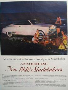 Studebaker Car 1948 Ad