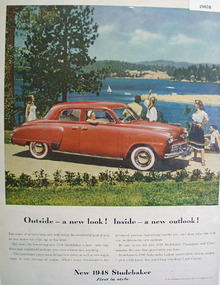 Studebaker First in Style 1948 Ad