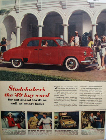 Studebaker Champion 1949 Ad