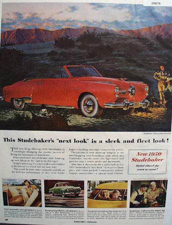 Studebaker Car 1950 Ad