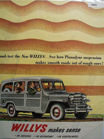 Willys 1950 Ad Station Wagon.