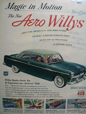 Aero Willys 1952 Ad