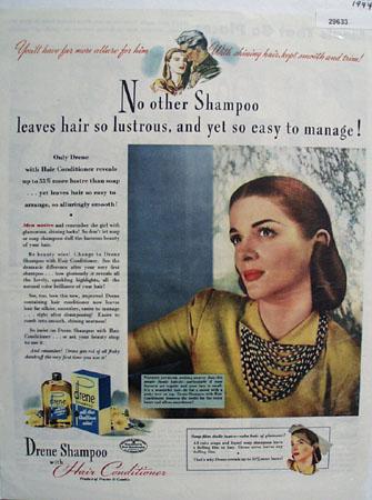 Procter and Gamble Shampoo 1944 Ad
