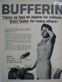 Bristol Myers Bufferin 1958 Ad