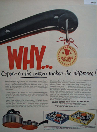 Revere Copper and Brass 1954 Ad