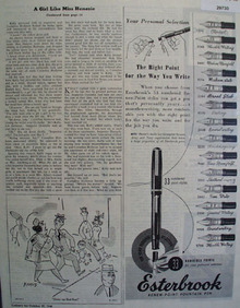 Esterbrook Fountain Pen 1945 Ad