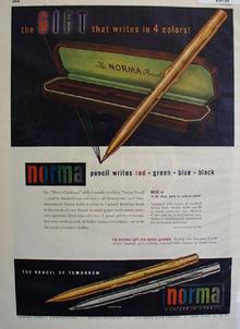 Norma Pencil 1948 Ad