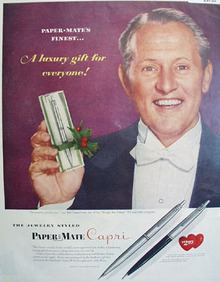 Paper Mate Capri Pen 1955 Ad