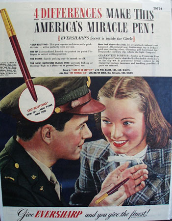 Eversharp Pen 1944 Ad