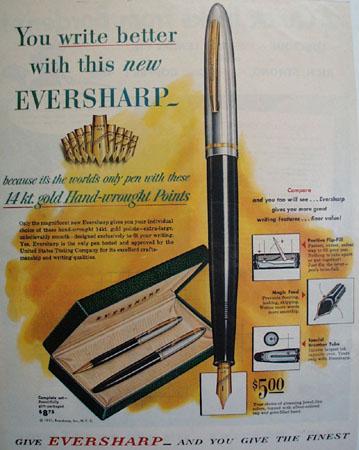 Eversharp Pen 1951 Ad