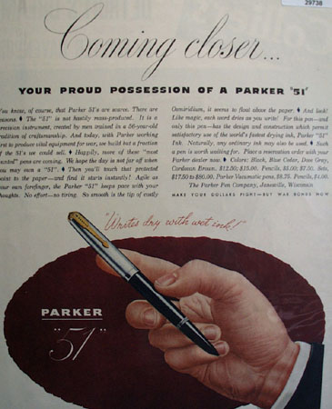 Parker Pen Co. 1945 Ad