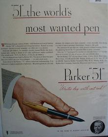 Parker Pen Co. 1947 Ad
