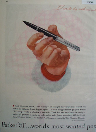 Parker Pen Co 1947 Ad