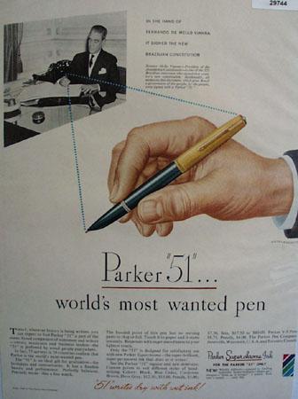 Parker Pen Co.  1948 Ad