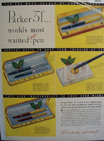 Parker Pen Co. 1949 Ad