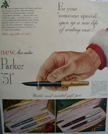 Parker Pen Co.  1949 Ad