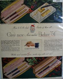 Parker Pen Co 1950 Ad