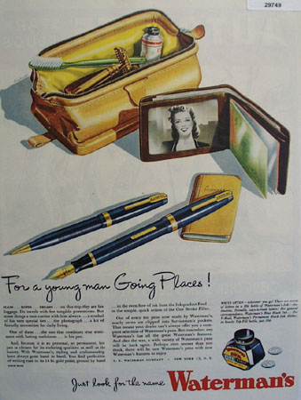 L.E. Waterman Co 1945 Ad