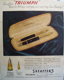 Sheaffers Pen 1946 Ad