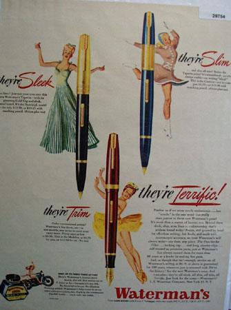 Watermans Pen 1946 Ad