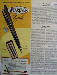 Wearever Pen 1945 Ad