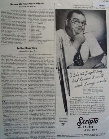 Scripto Co 1946 Ad