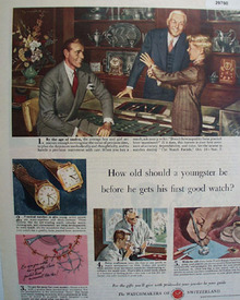 Watchmakers of Switzerland 1949 Ad