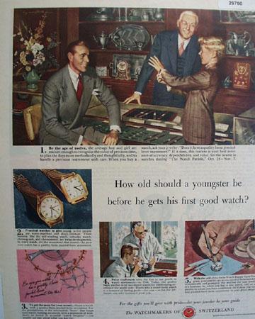 Watchmakers of Switzerland 1949 Ad