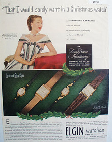 Elgin Watches 1948 Ad
