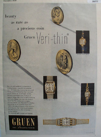 Gruen Watch Co. 1948 Ad