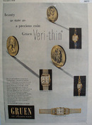 Gruen Watch Co. 1948 Ad