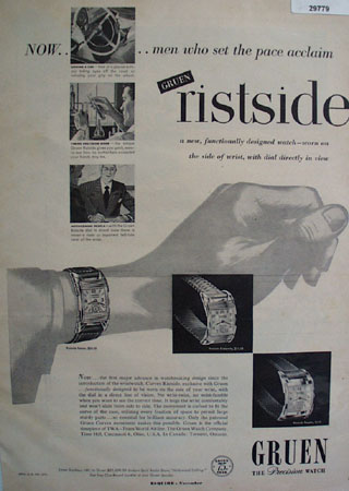 Gruen Precision Watch 1949 Ad