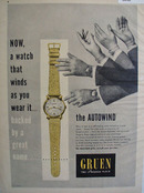 Green Autowind Watch 1948 Ad