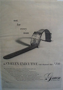 Green Curvex Executive Watch 1947 Ad