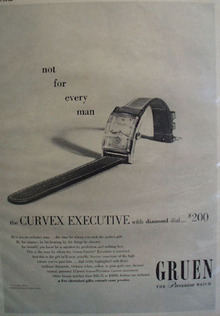 Green Diamond dial Watch 1948 Ad