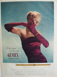Gemex Flexible Watch Bands 1947 Ad