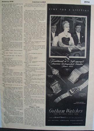 Gotham Fine Watches 1948 Ad