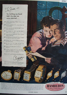 Hamilton The Watch Of railroad Accuracy 1950 Ad