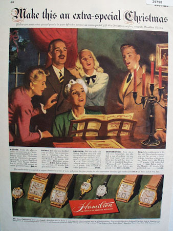 Hamilton Watch Extra Special Christmas 1948 Ad