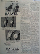 Harvel Watch 14K 17 Jewel 1947Ad
