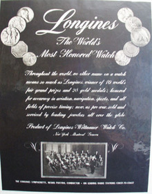 Longines Worlds Most Honored watch 1945 Ad